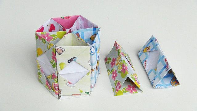 礼物盒折纸图片