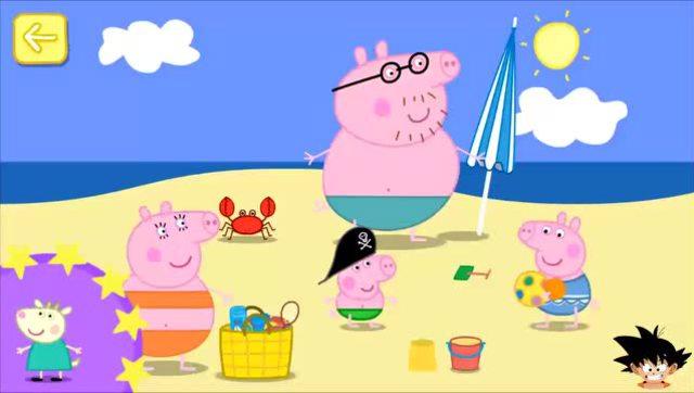 粉红猪小妹中文版 小猪佩奇一家海滩度假