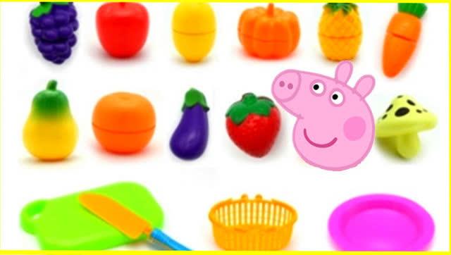 小猪佩奇水果篮切切乐过家家