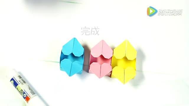 淘趣工坊手工折纸:桃心方便盒
