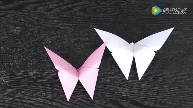手工diy折纸:蝴蝶