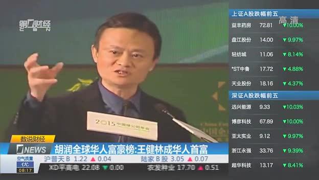 胡润全球华人富豪榜:王健林成华人首富截图