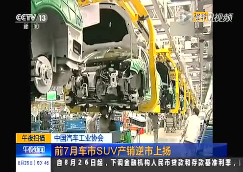 中国汽车工业协会 前7月车市SUV产销逆市上扬截图
