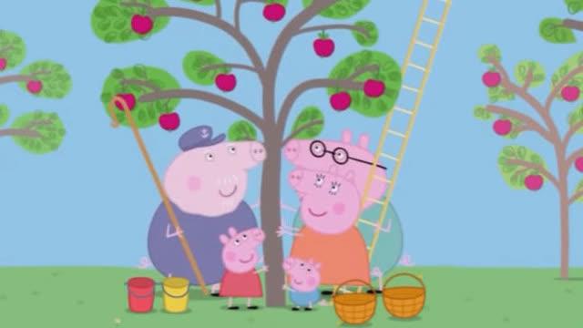 幼儿英语启蒙和小猪佩奇学英语 ⑨ 粉红猪小妹 摘水果 做果汁图片