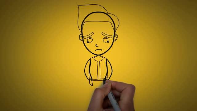 一分钟教你手绘卡通男孩