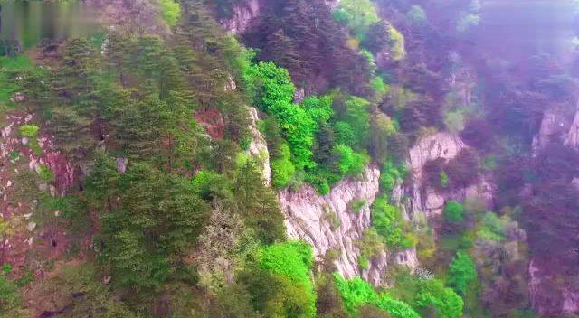 航拍泰山景区