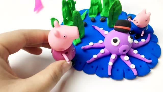 花儿朵朵童趣屋橡皮泥亲子手工diy小猪佩奇做面包
