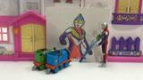 高登和培西小火车的奥特曼蜡笔涂画时间