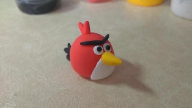 橡皮泥愤怒的小鸟手工制作教学