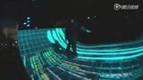 带有科幻色彩的滑板 滑板结合投影效果太美了