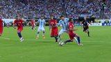 阿根廷0-0智利 伊瓜因失单刀2人染红