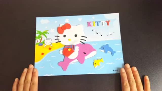海豚湾凯蒂猫★亲子手工制作3d贴画