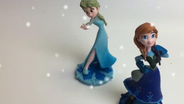 冰雪奇缘亲子游戏艾莎女王安娜公主给小熊找颜色早教启蒙