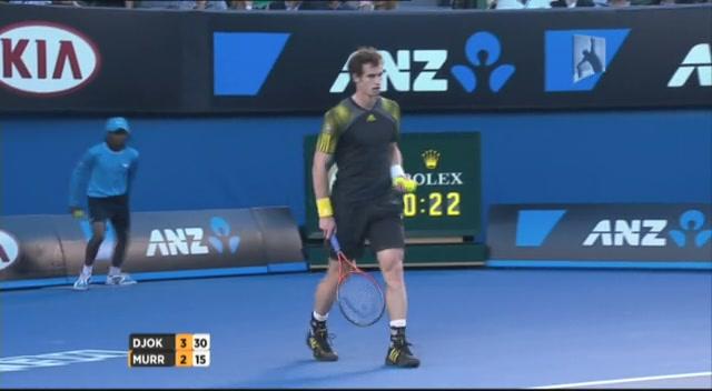 澳网第14日小德VS穆雷 第一盘第6局回放截图