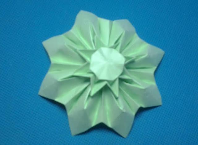 折纸王子教你同向连体玫瑰花 2