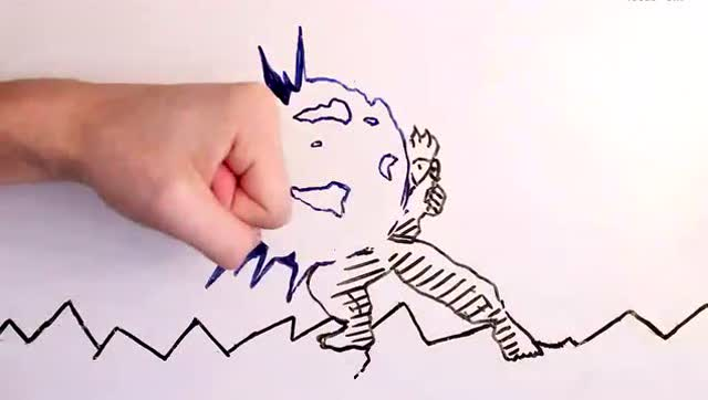 超强手绘定格动画 食指大战街头霸王