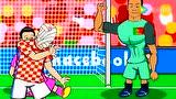 动画恶搞欧洲杯第14比赛日 温格怒烧扎卡合同