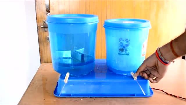 创意diy:用两只水桶制作一台简易洗衣机