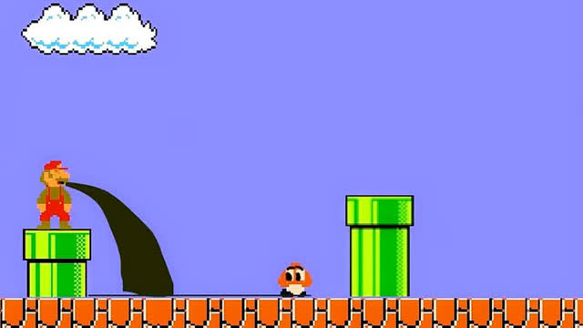 超级玛丽原来是个恐怖游戏,当马里奥吃了蘑菇后会发生