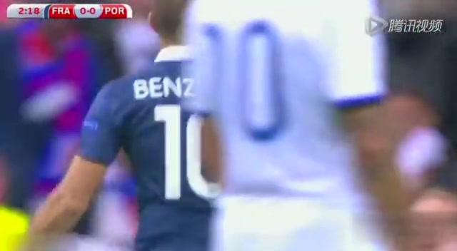 【集锦】法国2-1葡萄牙 本泽马献传射博格巴建功截图