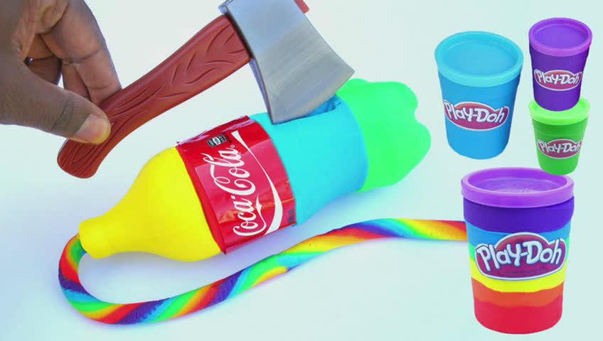 真牛!手工创意橡皮泥diy如何做超级可乐彩泥粘土视频