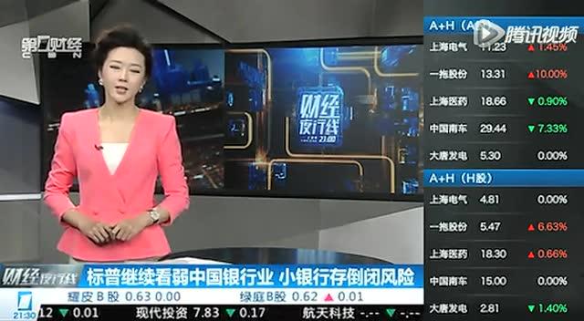 標普繼續看弱中國銀行業 小銀行存倒閉風險截圖