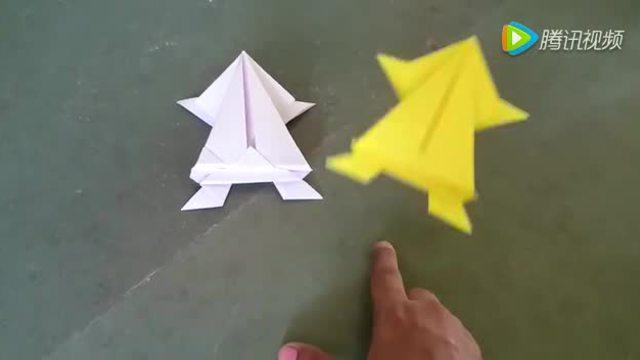 手工达人教你折纸青蛙