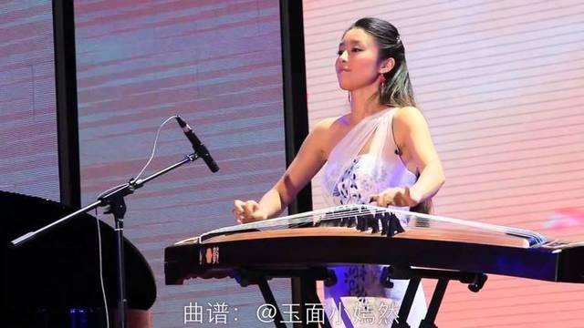 美丽女生古筝弹奏《美丽的神话》真美啊!