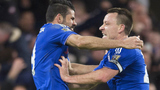 切尔西主场1-1曼联 科斯塔补时破门扳平
