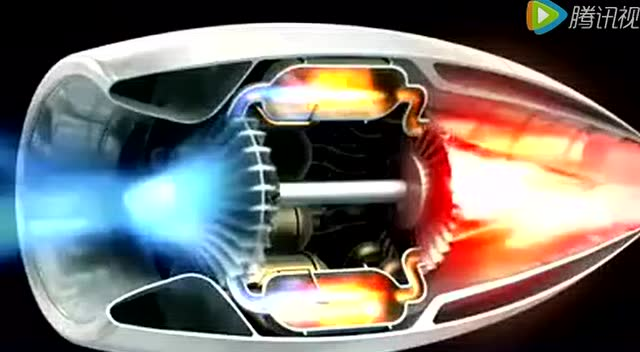 涡喷发动机原理3d 难怪飞机可以飞的起来