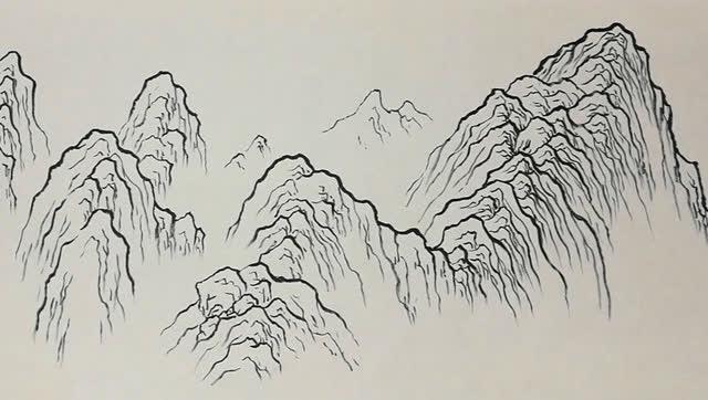 国画 简笔画 手绘 线稿 640_362