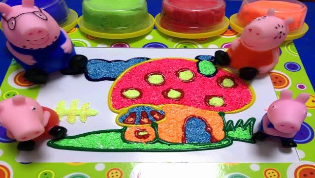 小猪佩奇食玩 培乐多粘土橡皮泥 迪士尼珍珠雪花泥画玩具蛋