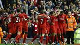 利物浦4-0十人埃弗顿  库鸟斯图建功莫里染红