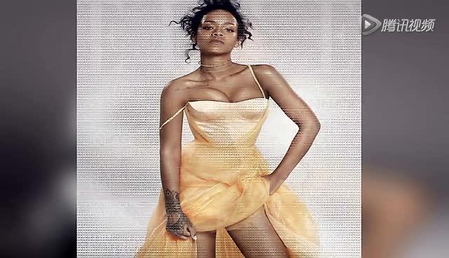 蕾哈娜登时尚写真  性感狂野半裸露酥胸截图