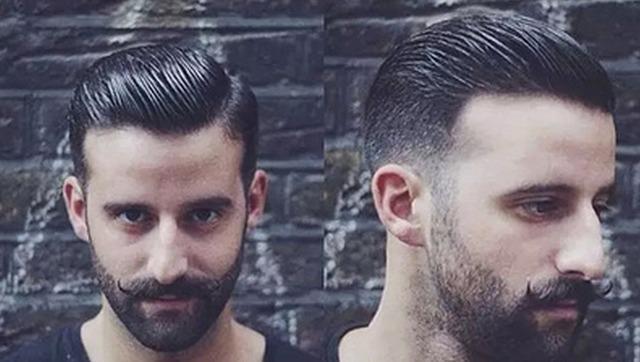 外国理发师自己剪头发,男士男生型男发型教学视频