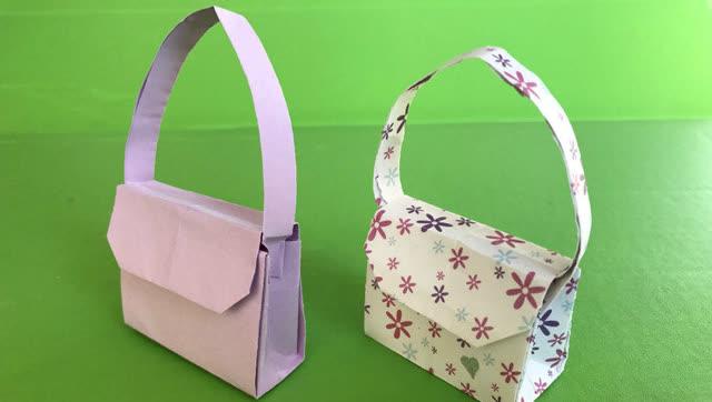 漂亮的手提包 diy 手工折纸