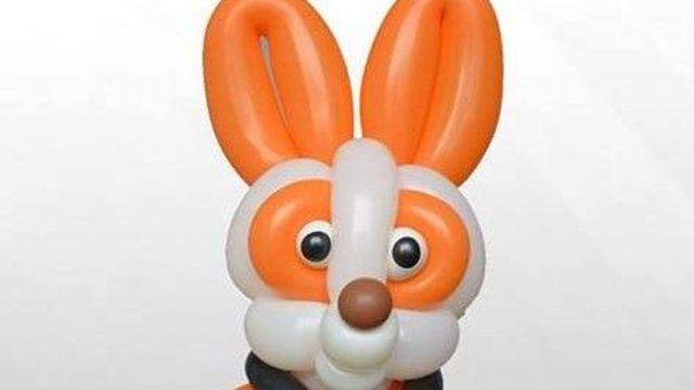 手工制作 可爱的气球兔子