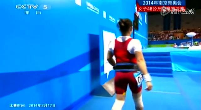 青奥会女子举重48公斤级决赛 蒋惠花摘中国首金截图