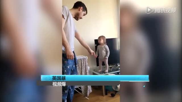 英国暴躁熊孩子与父亲对着干视频爆红网络截图