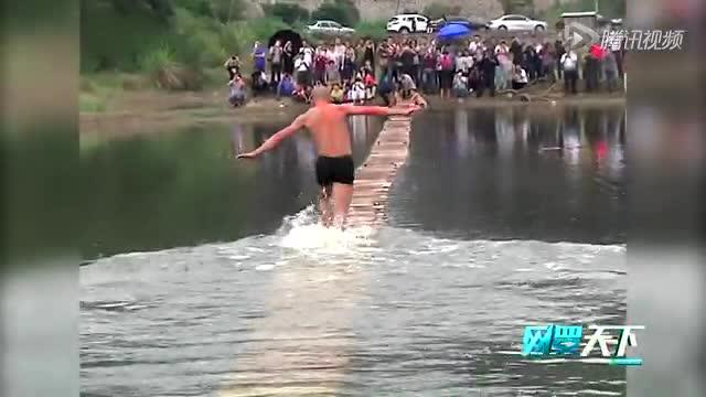 少林武僧成功水上漂120米 刷新世界纪录截图