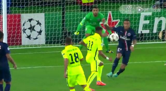 【进球】梅西争头球吸引后卫 内马尔推射中柱破门截图