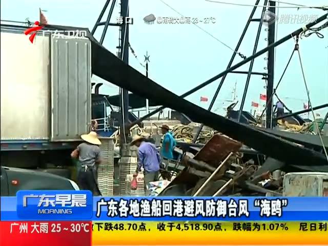 广东各地渔船回港避风防御台风海鸥截图