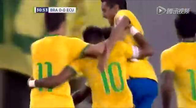【进球】巴西演绎教科书任意球 内少助攻威廉破门截图