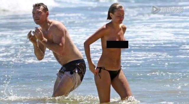 欧美男生半裸海边头像
