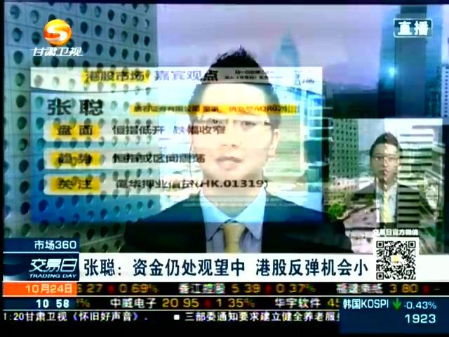 20141024张聪:资金仍处观望中 港股反弹机会小截图