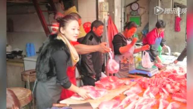 转载杭州美女卖猪肉获赞猪肉西施