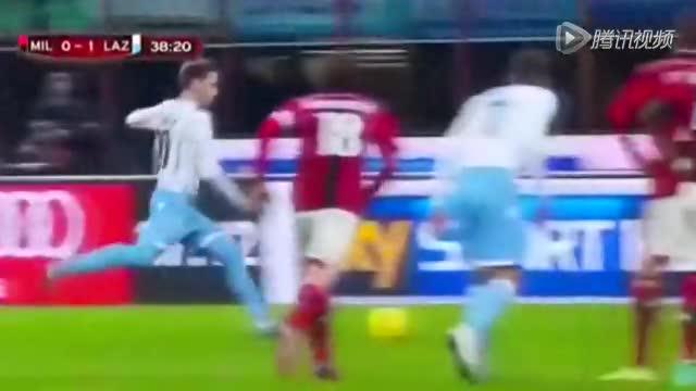 【集锦】意杯AC米兰0-1拉齐奥 比格利亚破门卡纳染红截图