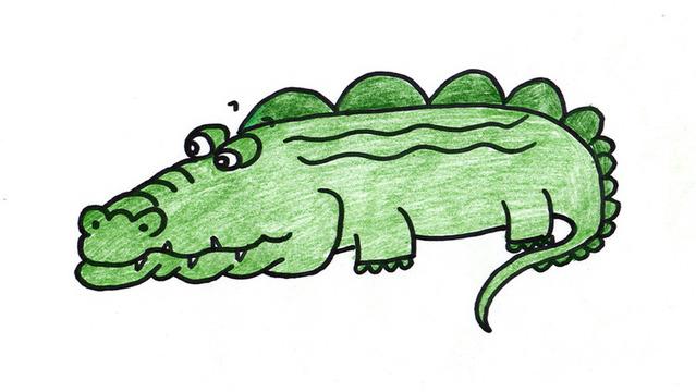 中班亲子手工制作鳄鱼