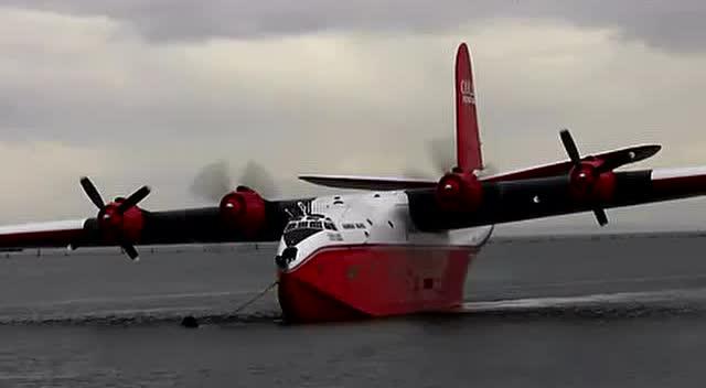 水上飞机起飞的壮观景象你见过么图片