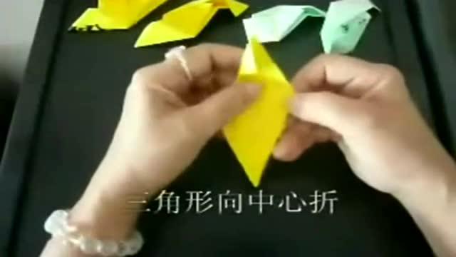 玫瑰花的折法 魔术玫瑰-折纸玫瑰diy
